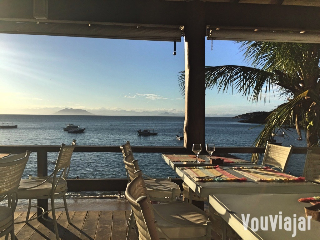 Restaurante do clube de praia La Plage, na praia de João Fernandes, em Búzios, RJ